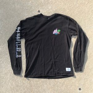 Men's Huf Worldwide Black Longsleeve size M